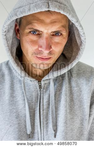 Man In Hooded Shirt
