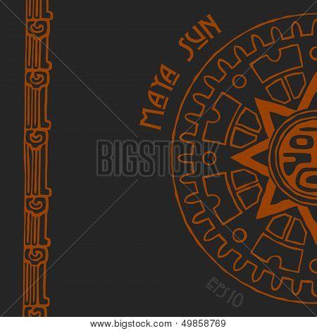 Maya sun half