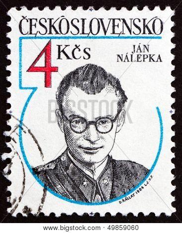 Postage Stamp Czechoslovakia 1984 Jan Nalepka, Resistance Hero