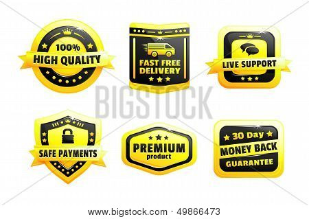 A Set Of High Quality Badges