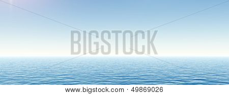 High resolution concept conceptual sea or ocean water waves and sky cloudscape exotic or paradise background background