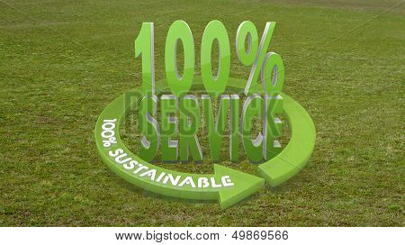 3D Graphic Of A Best Service Sign  On Grass