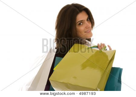 Woman Happyness After Shopping