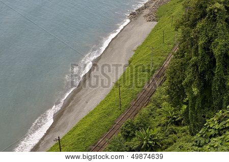 Railroad On The Beach