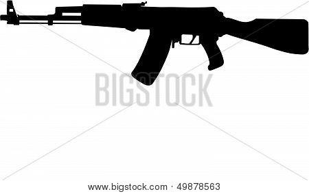 AK-47. AK-47 assault rifle. Kalashnikov.