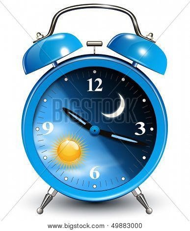 Alarm clock, vector illustration.