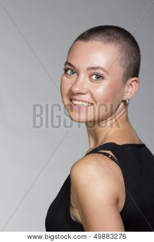 Exotic Woman With Short Hair
