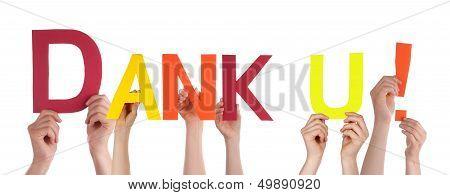 Hands Holding Dank U