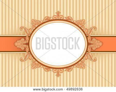 Ilustración de un marco de época con un diseño barroco