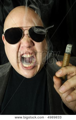 Mobster Smoking A Cigar