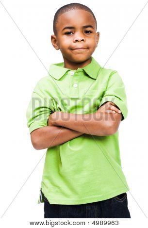 Smiling Boy Standing