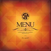 stock photo of restaurant  - Restaurant menu design - JPG