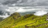 foto of natal  - View of the Drakensberg Mountains along the Amphitheater in Royal Natal National Park - JPG
