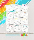 picture of august calendar  - Vector design template  - JPG