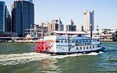 New York City, Usa - Paddle Wheel Queen Of Hearts Steamboat