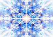 stock photo of occult  - A light blue radiating kaleidoscope background pattern - JPG