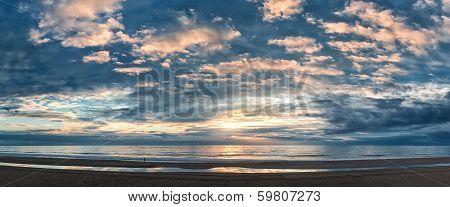 Sunset Above The Atlantic Ocean