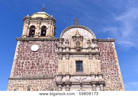 Church Facade In Tequila Mexico