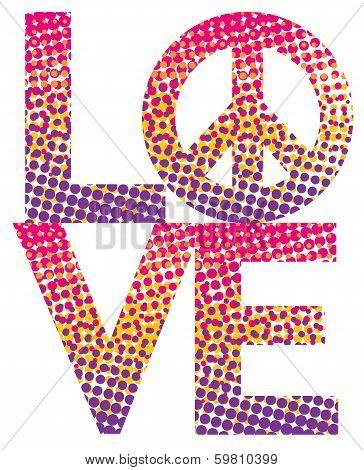 Halftone LOVE=Peace