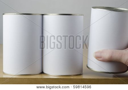 Choice Of Three Tin Cans