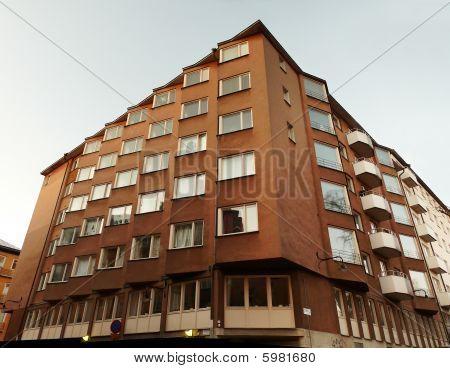 Apartment Building In Stockholm