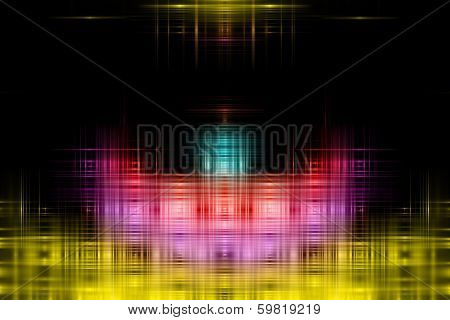 Futuristic Technology Background Design In Glowing Colors