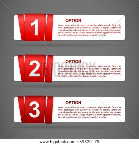 Red Paper Option Labels