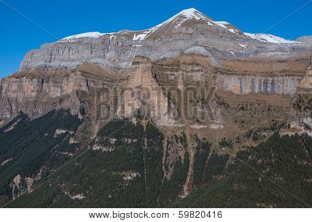 Scenic View Of Famous Ordesa Valley, Np Ordesa Y Monte Perdido, Spain.