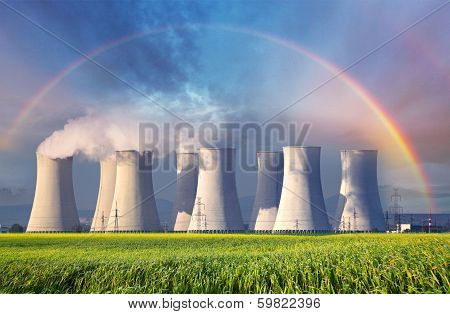 Nuclear Power Plant With Summer Field