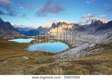 Nice Mountain With Lake - Italy Alps Dolomites - Tre Cime - Lago Dei Piani