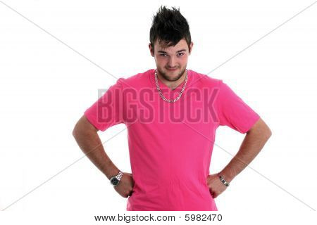 Caucasian guy in a t shirt