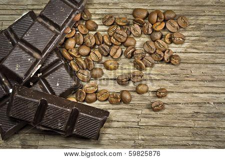Chocolate with coffee