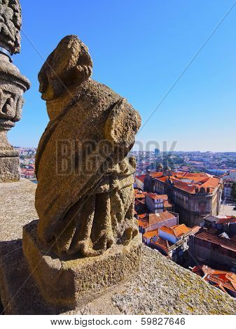 View From Clerigos Tower In Porto