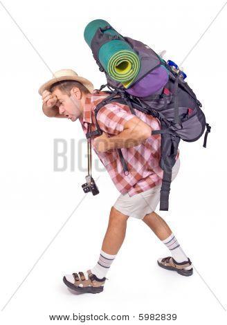 way-worn hiker