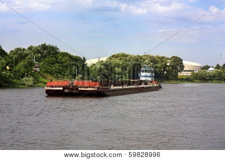 Barge And Tugboat