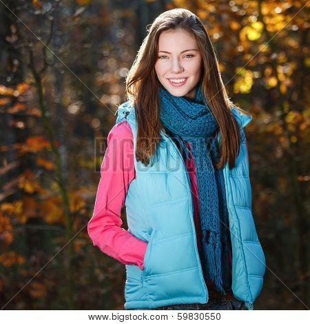 Autumn Girl Smiling