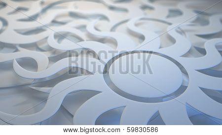 White Layered Sunburst Background