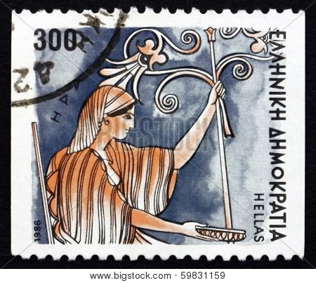 Postage Stamp Greece 1986 Hera, Goddess Of Women And Marriage