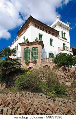 Beautiful Home arhitecture park Guell Barcelona Spain