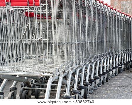Several Shopping Carts
