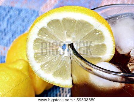 Lemon Slice Rim of Glass