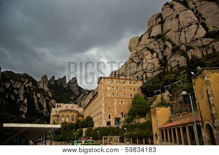 Santa Maria de Montserrat Abbey, Catalonia, Spain.