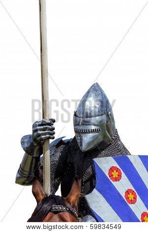 Armoured Knight On Warhorse