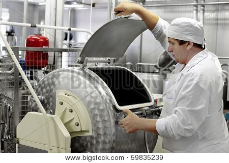 Worker On A Milk Factory