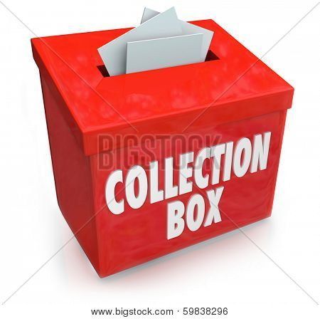 Collection Box Words Charity Fund Raising Donor Money Campaign