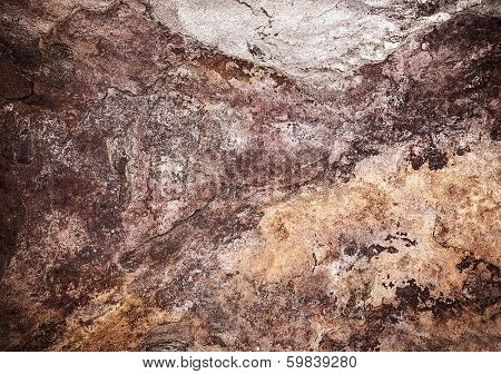 Abstract tile background, grunge brown stone texture, weathered granite, rusty seamless wallpaper, vintage surface of exterior decor