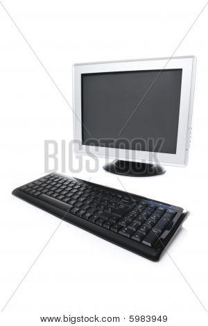 Lcd monitor and keyboard