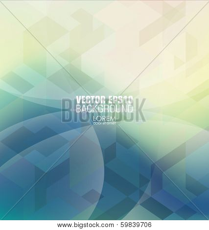 Hipster background made of triangles. Square composition with geometric shapes, color flow effect. Hipster theme label.
