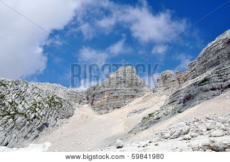 Mountain Kanin, Julian Alps in Soca valley Slovenia, Europe