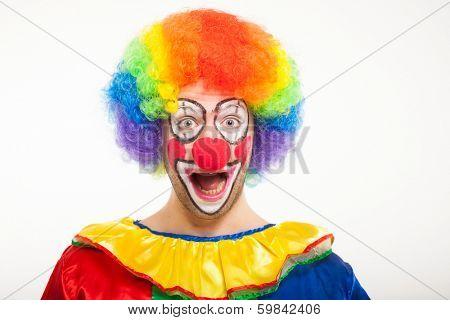 Portrait of a smiling clown